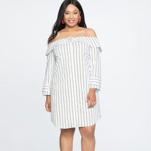 Off the Shoulder Shirt Dress